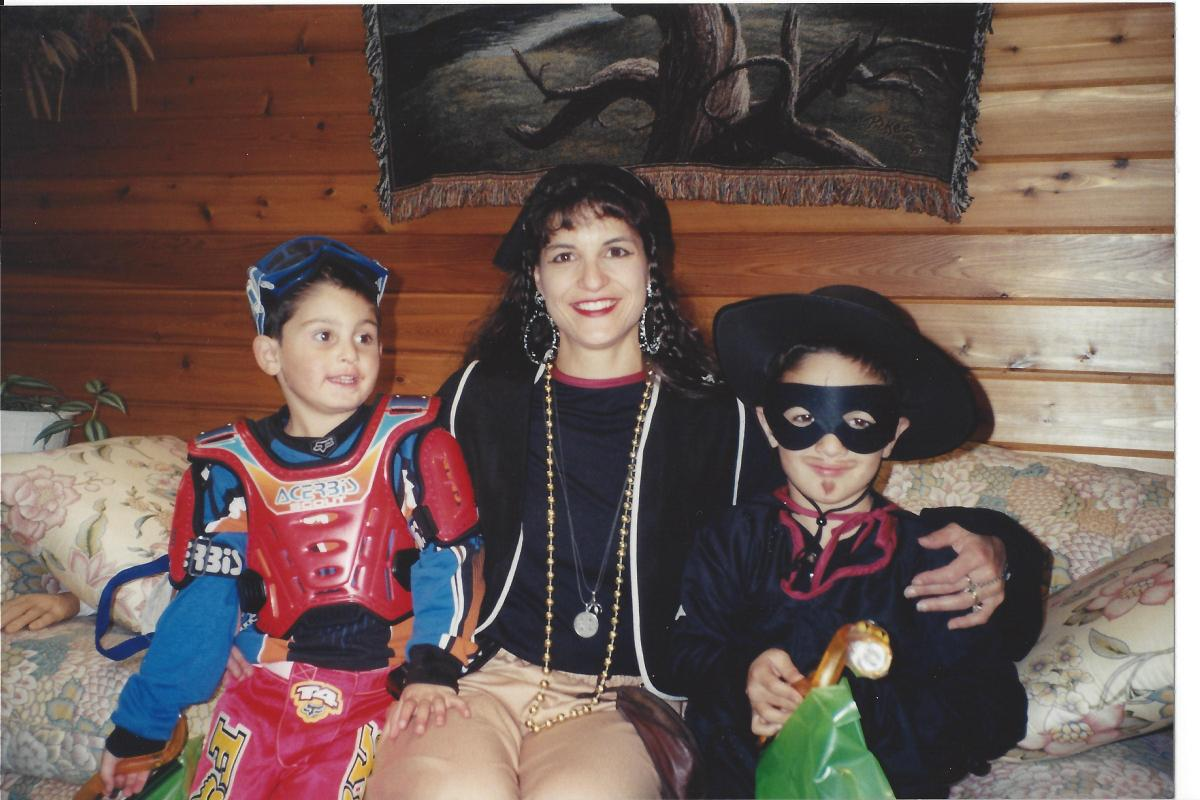 me and my boys halloween 2001