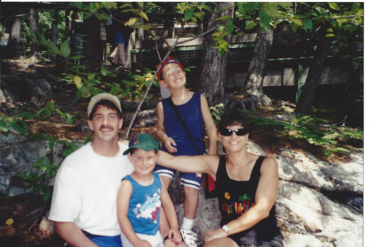 2001 camping Lake Placid